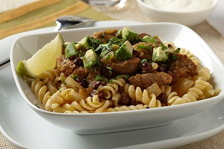Mixing up your sources of lean protein will help keep your taste buds from getting bored. Pork tenderloin, like that which is served in this Salsa Verde Pork & Pasta Stew is low in calories and a good source of the essential minerals selenium and phosphorus. Click for the recipe and enter to win THREE FREE BOXES of Dreamfields pasta!
