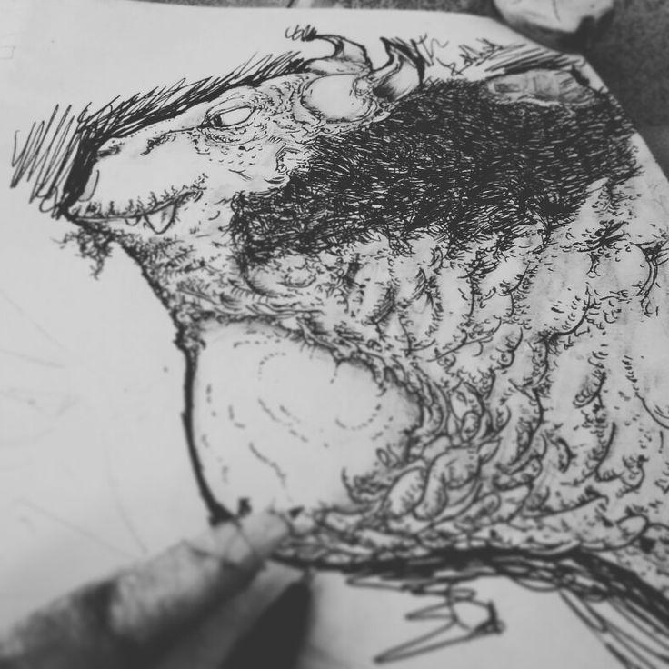 true Abomination #conceptart #drawing #creatures #sketch #animal # penwork