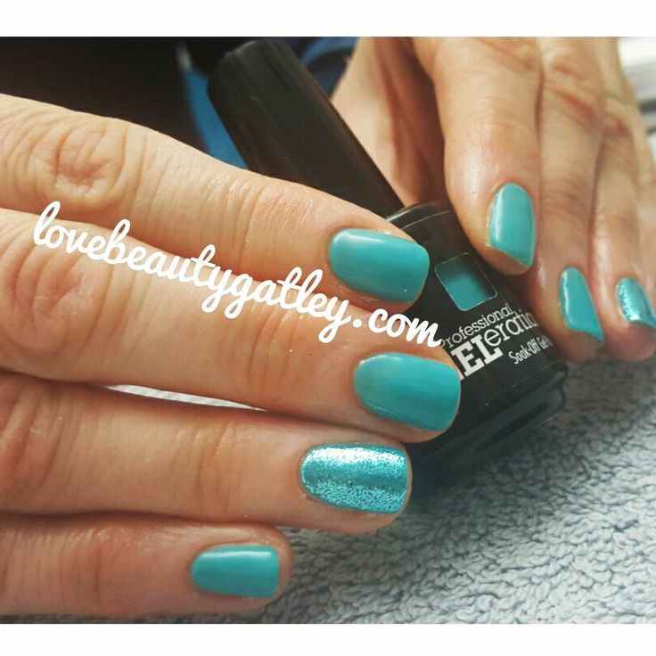 Strike A Pose with teal glitter, created by Love Beauty Gatley.