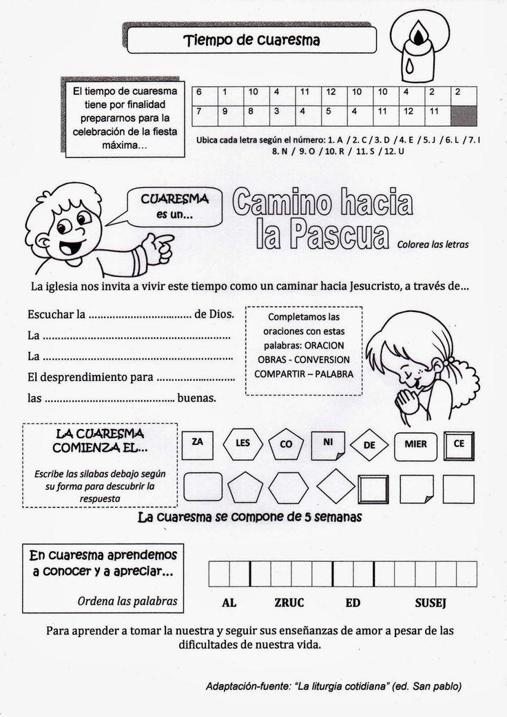 La Catequesis: Explicación Sencilla para niños de la Cuaresma con un Cómic para Colorear