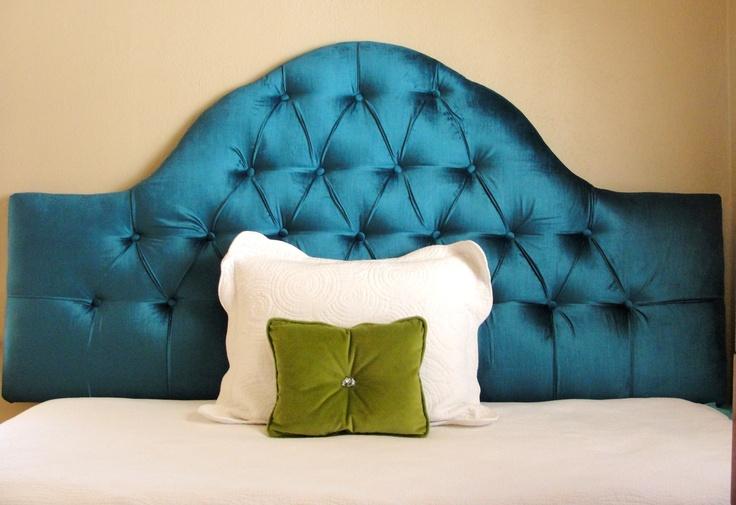 Peacock Blue Velvet Tufted Headboard For The Home