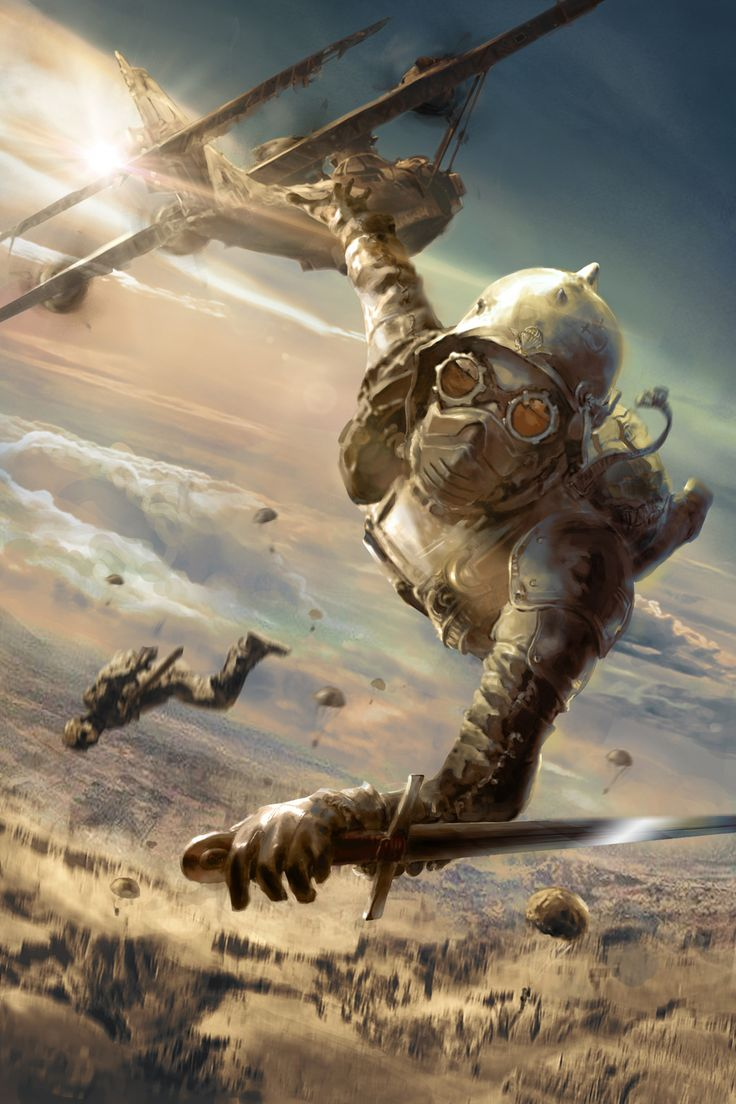 The sky soldier, Fragan Tanguy on ArtStation at https://www.artstation.com/artwork/6kO05