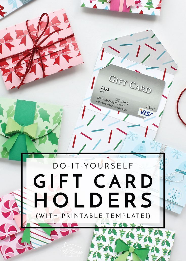Diy Gift Card Holders With Printable Template Gift Card