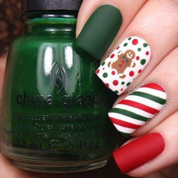 Mejores 88 imágenes de Christmas nails en Pinterest   Uñas bonitas ...