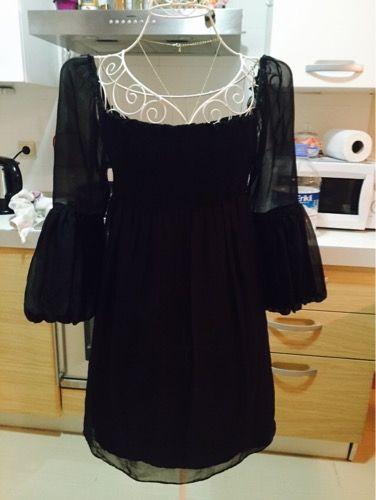 %50 indirimli Zara Elbise Zara siyah ipek elbise | Modacruz