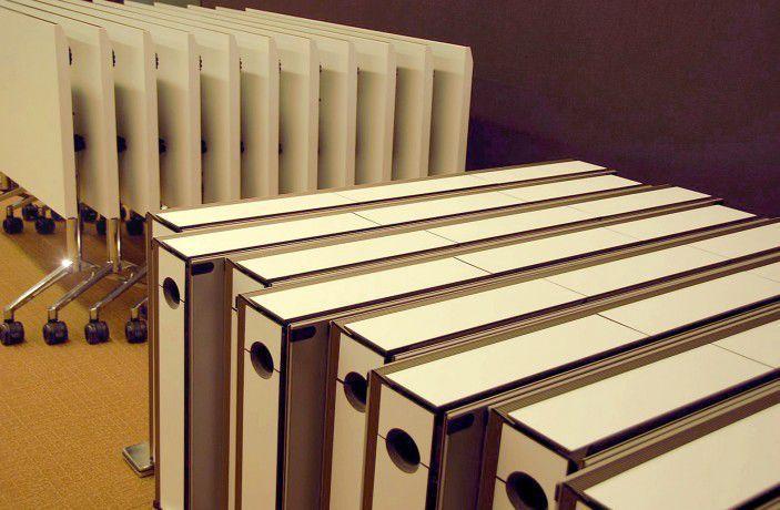 Tavolo da conferenza / indoor / moderno / impiallacciato in legno - IMOVE - WAVEinside - Video