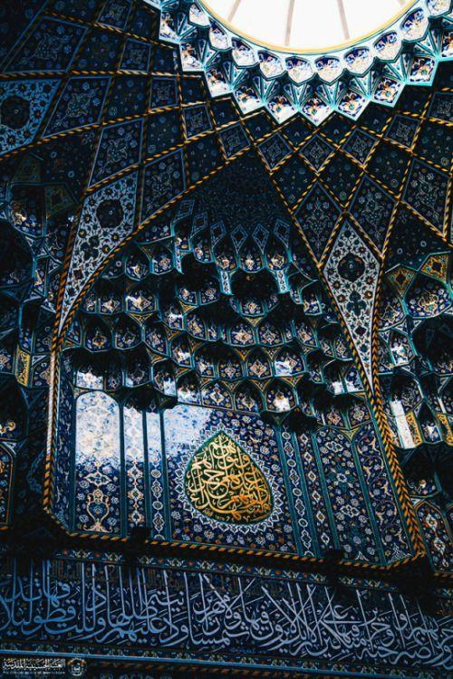 The Islamic art and architecture. Imam Hussein shrine in Karbala, Iraq. 2015.  via imamhussain.org