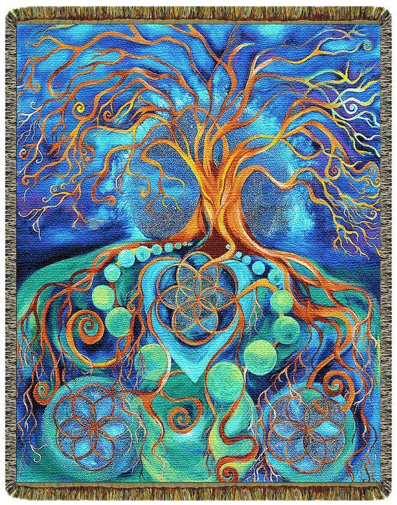 Visionary Art Blanket  Metamorphosis  Art by VisionaryArtBlankets, $85.00
