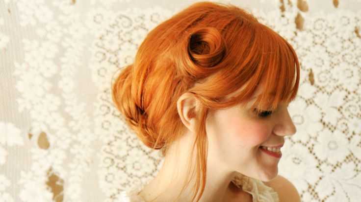 The Pin Curl Updo