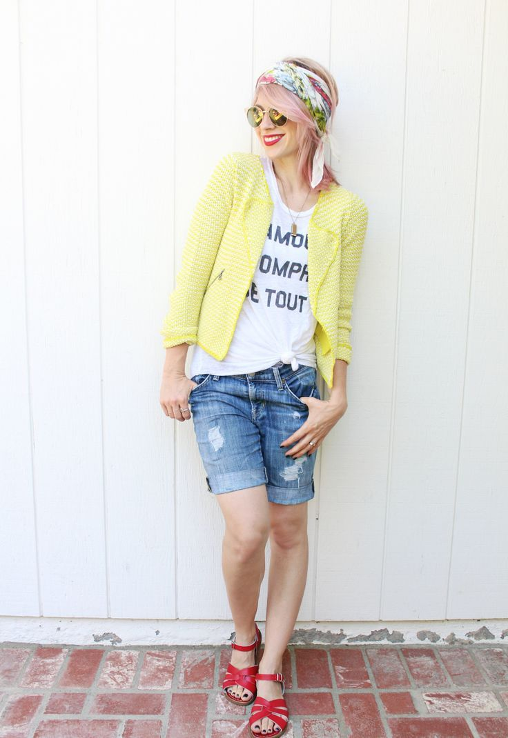 How to Make Your Own Boyfriend Shorts — and 8 Ways to Wear Them!