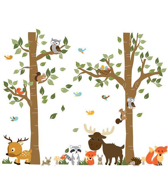 25 b sta stickers muraux arbre id erna p pinterest - Stickers muraux bebe garcon ...