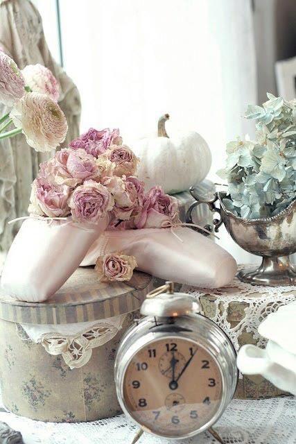 トゥ・シューズ…ピンクのお花が似合います❤