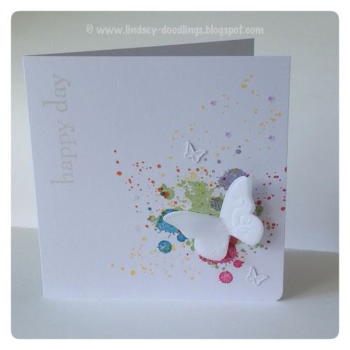 CAS cards, Stampin Up Happy Day, Beautiful Wings Embosslits