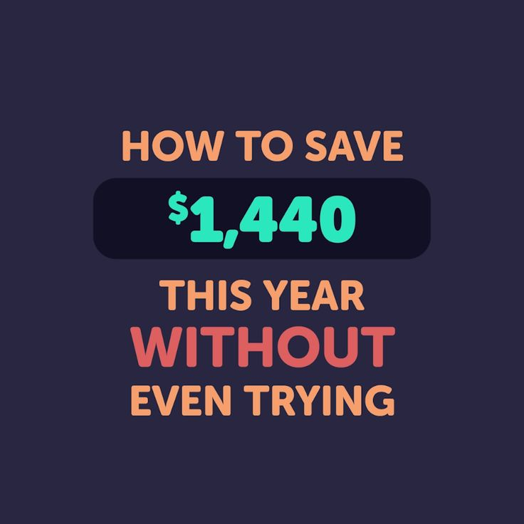 How To Save Over A Thousand Dollars This Year