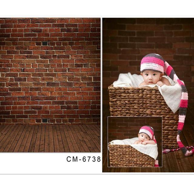 5x7ft(150x220cm)Kate Custom Made children theme baby background Retro brick flooring fondos fotografia Wood Floor Backdrop