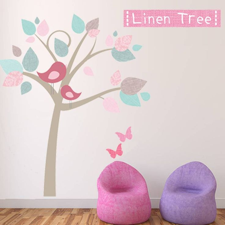 Are you interested in our linen tree fabric wall sticker pink? With our childrens tree wall stickers you need look no further.
