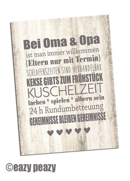 Muttertag & Vatertag - ★ OMA & OPA ★ Postkarte ★ - ein Designerstück von eazy-peazy bei DaWanda