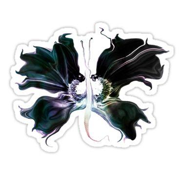 Black Wing Butterfly Sticker by StickerNuts