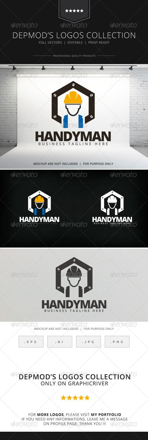Handyman Logo — Vector EPS #identity #business • Available here → https://graphicriver.net/item/handyman-logo/8017021?ref=pxcr