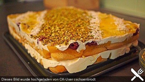 Pfirsich-Tiramisu, ein schönes Rezept aus der Kategorie Frucht.