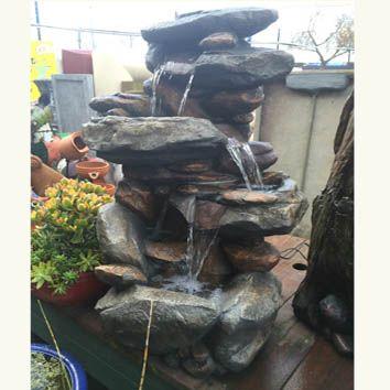 Small Rock Fountain with pumpand lights L 62 cm x W 40cm x H 96cm                                         …