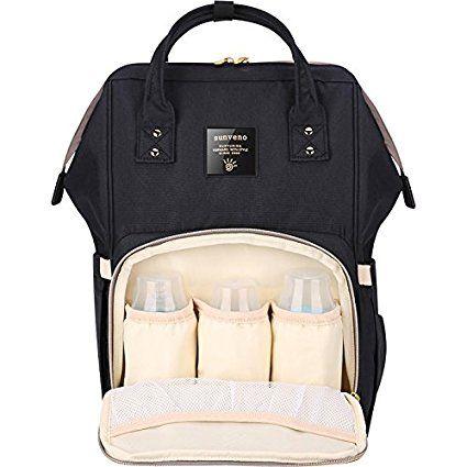 SUNVENO Multifunktions Large Capacity Mama Rucksack Baby Windel Windel Umhängetasche Schulter Rucksack (schwarz): Amazon.de: Baby