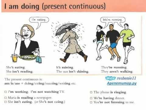 Настоящее время глаголов английского языка
