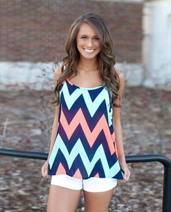 Summer Perfection Chevron Tank - http://www.thechicfind.com