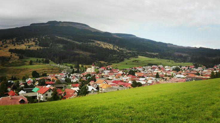 pohľad na dedinu od meteo stanice