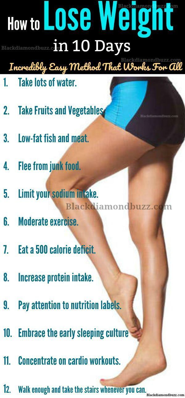 How To Lose Weight In 10 Days Naturally At Home With And Without