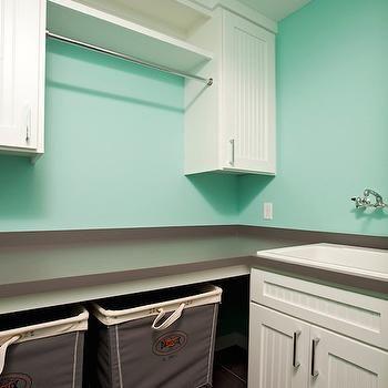 Tiffany Blue Laundry Room