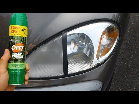 Have Foggy Headlights? All You Need Is This Spray And A Tissue To Restore Them!