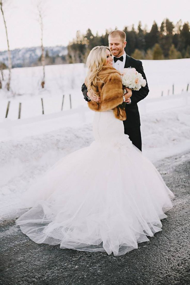 Winter glam bride & groom Photography: Dylan & Sara Photography - dylandsara.com  Read More: http://www.stylemepretty.com/2014/05/19/rustic-glam-blush-pink-wedding/