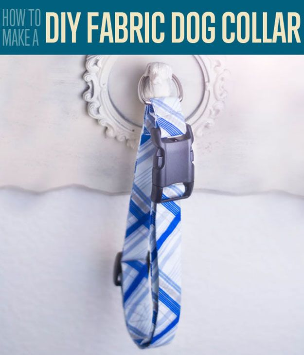 DIY Fabric Dog Collar | How to Make a Dog Collar | Do It Yourself Tutorials and DIY Projects for Pet and Cool DIY Ideas http://diyready.com/diy-fabric-dog-collar-homemade-pet-collars/