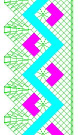 Zig-zag lace pattern