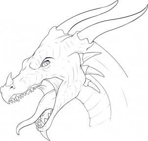 how to draw a dragon head step 11