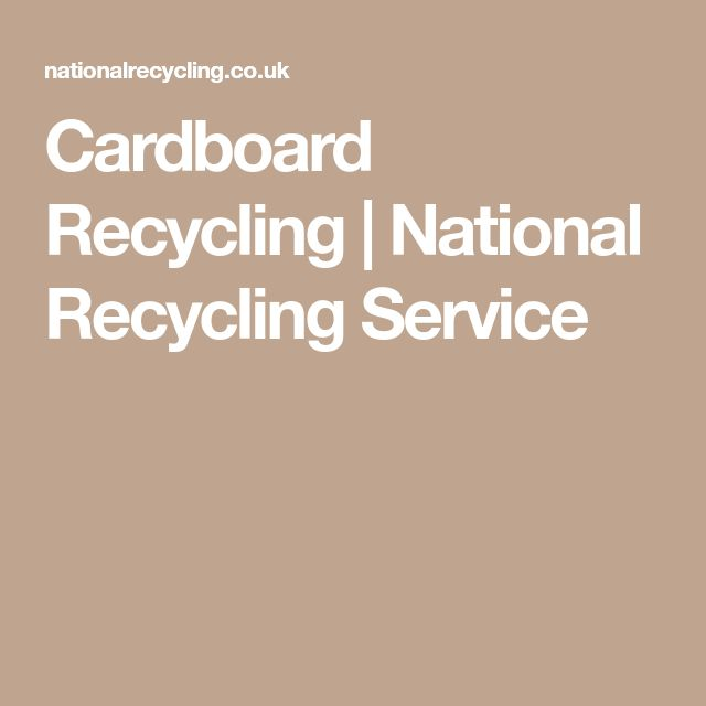 Cardboard Recycling | National Recycling Service