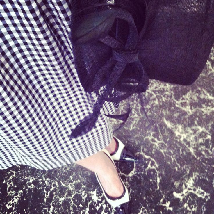 #black #white #skirt #summer #double #plaid #polka #dots