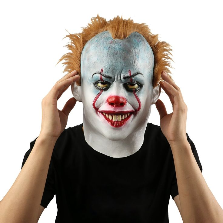 Scary Evil Clown Mask,Halloween Costume Party Mask for Masquerade/Birthday Parties,Carnival Decorations