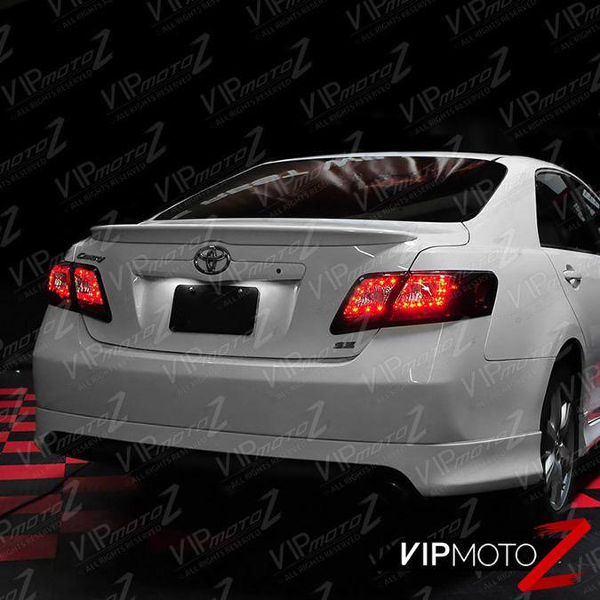 "SMOKE/RED ""Super Bright"" LED Brake Tail Light Lamp Toyota Camry 2007-2009 SE XLE #VIPMOTOZ"