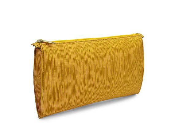 Martha Sturdy Vintage 1990s Clutch Handbag Purse Mustard