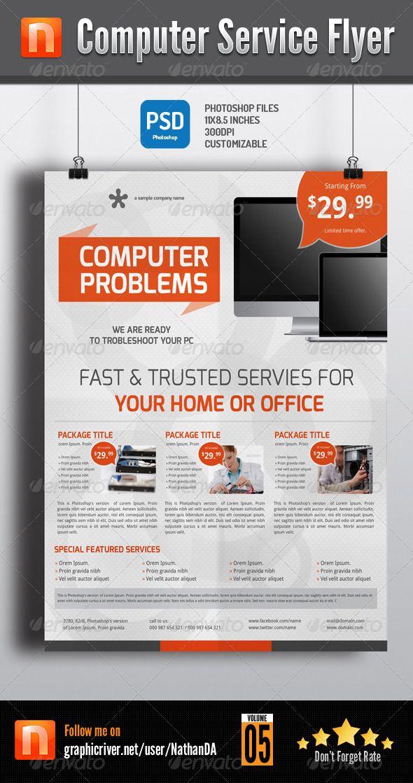 computer flyer template