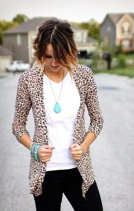 Classic Leopard Print Cardigan – Jess Lea Boutique #JessLeaBoutique