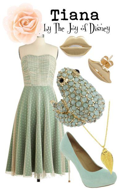 Inspired by Tiana from the Disney movie Princess and the Frog.