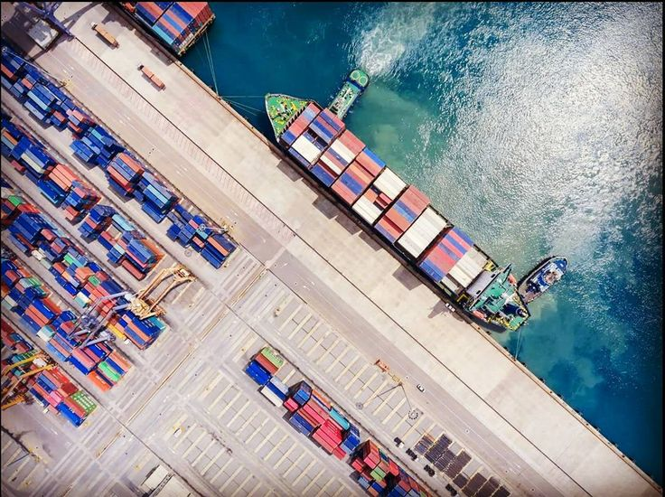 Aerial view of Port of Singapore  #aerial #port #qjawe #ttdocks