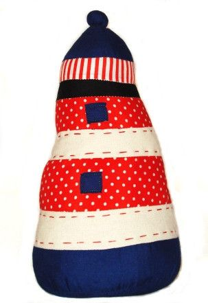 Lighthouse Doorstop - The perfect addition to your nautical themed room!