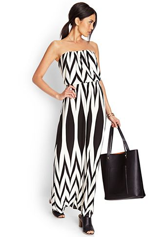Abstract Zigzag Maxi Dress | FOREVER21 - 2000060886 27.80
