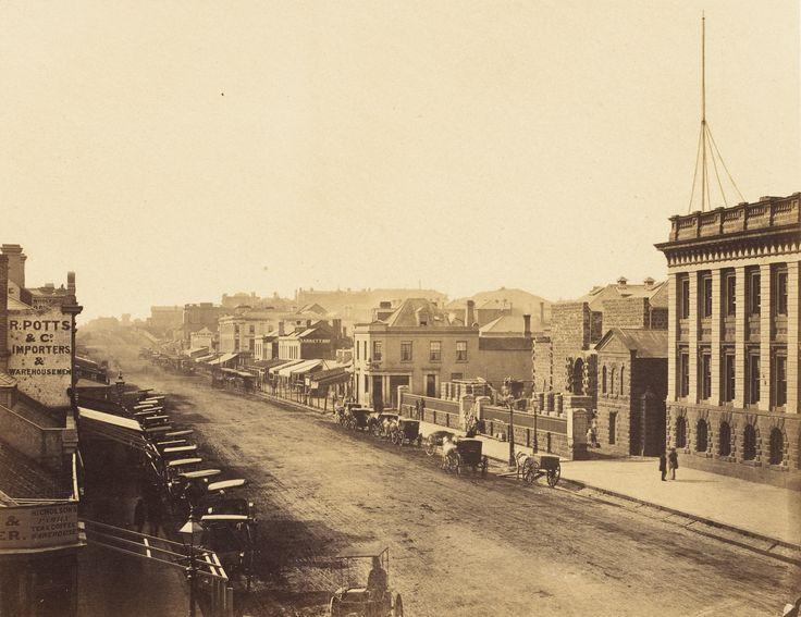 Swanston Street, Melbourne 1858