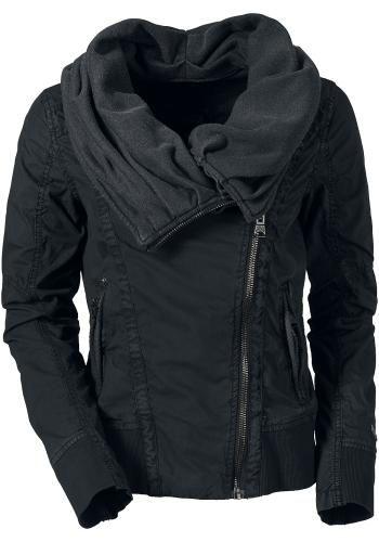 """Chaqueta entre-tiempo """"Jewel"""" de Khujo Khujo - """"Jewel"""" Chaqueta  - logo de metal de Khujo en los puños - parche del logo de Khujo en la espalda - pequeño cuello chal - 2 bolsillos laterales con cremallera - cremallera oblicua  Con esta chaqueta 'Jewel' de Khujo serás invulnerable al viento o al frío. Su capucha se puede convertir en un cuello chal."""