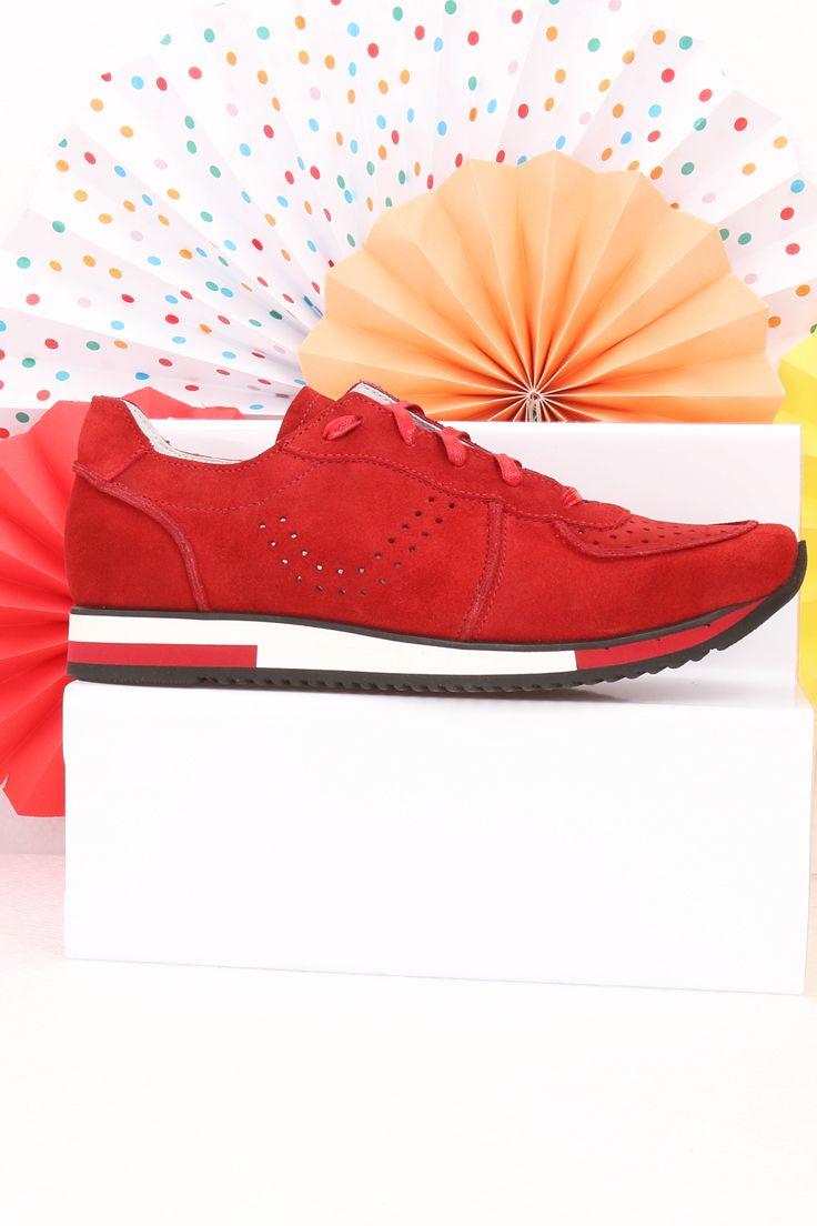 Damskie Sportowe Czerwone Buty Cilliana Sd2549 01 Shoes Slip On Sneaker Sneakers